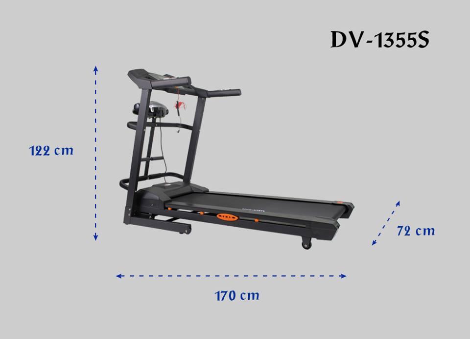 kích thước máy chạy bộ điện Đại Việt DV-1355S